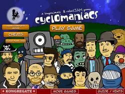 Cyclomaniacs title screen