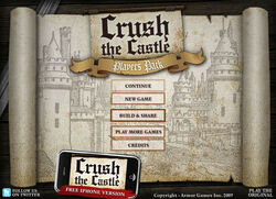 Crush the Castle PP title screen
