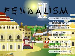 Feudalism II Main Menu