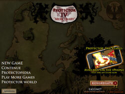 Protector IV title screen