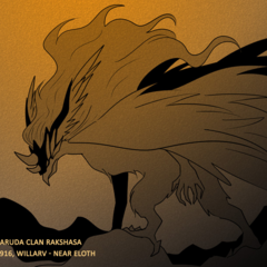 Picture of a Garuda rakshasa in the Themed Exhibition in <a href=