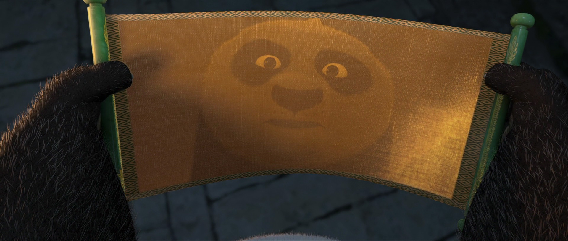 Image result for po from kung fu panda opening the dragon scroll