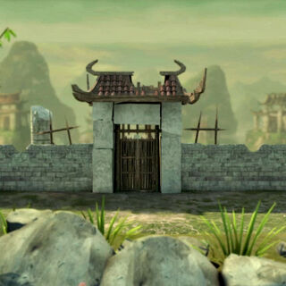 The entrance to the Qidan clan's village