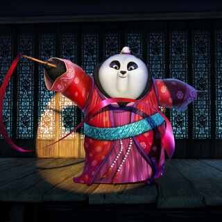 Mei Mei ribbon-dancing