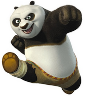 Po the panda kung fu panda jack black