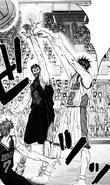 Himuro is blocked through Hyuga and Kiyoshi teamplay