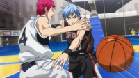 The ball is stolen from Akashi
