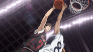 Kiyoshi goes for a dunk