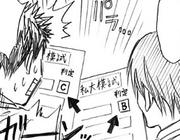 Kasamatsu's grades