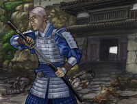 Yoshitada defending Kalen's Sacrifice