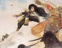 The Sword killing a Tsuno