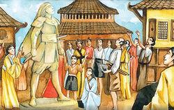 Toturi Tsudao Statue