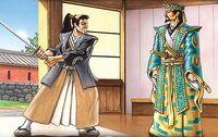 Kaneka stayed his blade