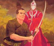 Koshei serving as Sezaru's Personal Champion
