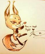Fox Kwami illust Kenya Danino
