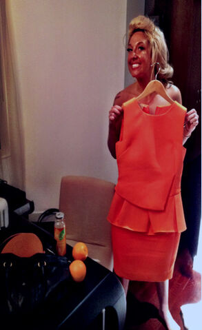 File:Antonio Berardi Custom based off of Fall Winter 2012 Orange peplum dress.jpg
