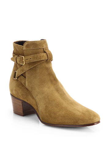 File:Saint Laurent - Blake suede belted ankle boot.jpeg