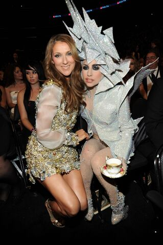 File:1-31-10 Lady Gaga and Celine Dion at Grammy Awards 2010.jpg
