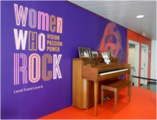 Germanotta Piano at the Women Who Rock exhibit in the Rock and Roll Hall of Fame