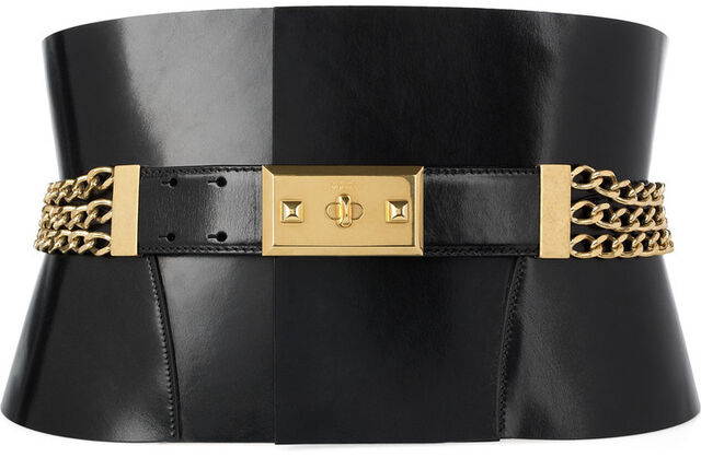 File:Alexander McQueen chain-embellished bridle leather belt.jpg