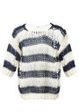 Saint Laurent - Striped wool and mohair openwork pullover