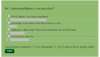 Poll Resulsts 11.17.13 - 12.02.13