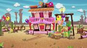 Prairie's saloon (decorated)