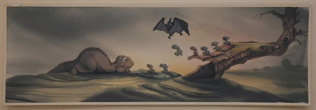 File:Don Bluth THE LAND BEFORE TIME Littlefoot Original Animation Concept Painting.jpg