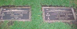 Judith and Maria's gravestones.