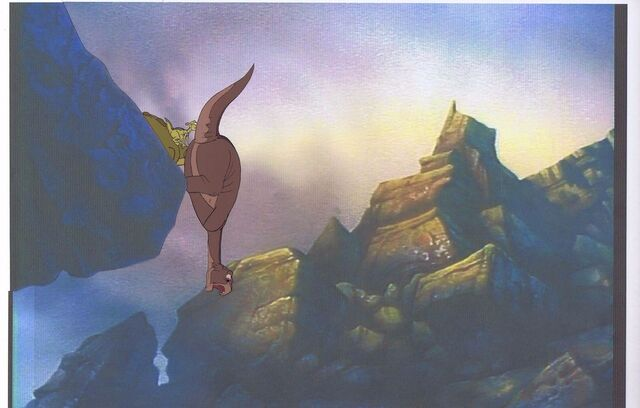 File:Land Before Time Original Production LITTLEFOOT SPIKE Cel & Copy Bkgd -A027.jpg