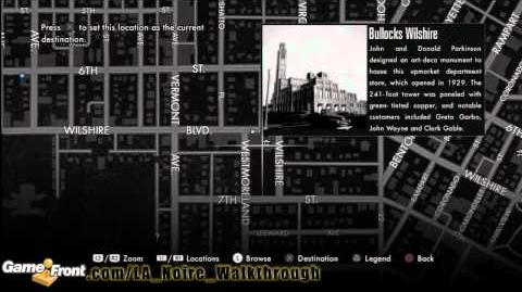 LA Noire - Star Map Achievement Trophy Walkthrough PT2 - All 30 Landmarks