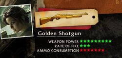 Golden shotgun screen