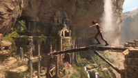 Lara Approaching Cliffside Ruins