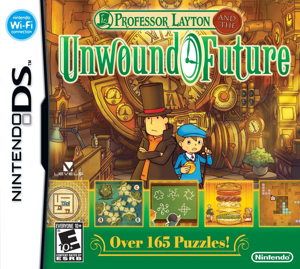 Professor Layton and the Unwound Future box art