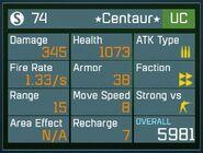 Centaur(UC)40stats