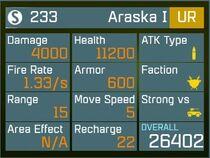 Araska I UR Lv1 Back