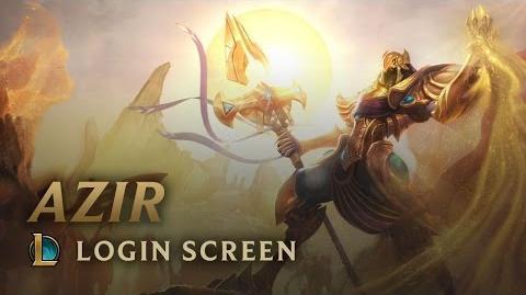 Azir, the Emperor of the Sands - Login Screen