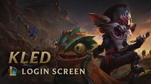 Kled, the Cantankerous Cavalier - Login Screen