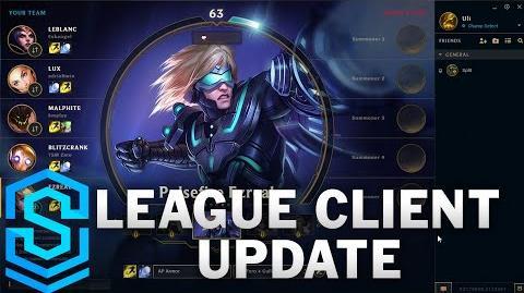 League Client Update PRE-ALPHA