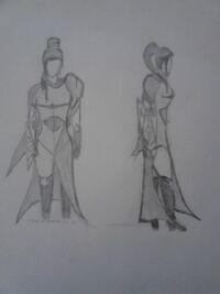 CommanderMarko Mirage Full-Body Sketch