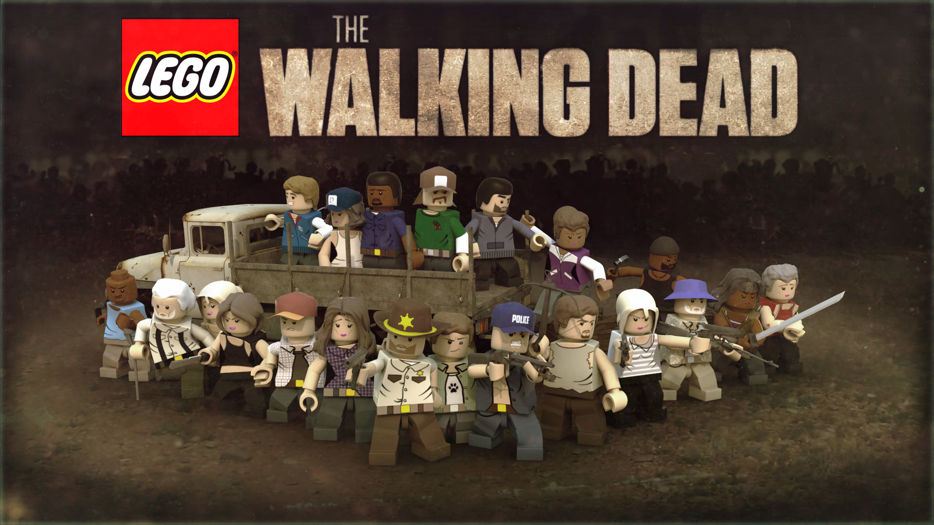 Walking dead lego daryl the walking - Lego The Walking Dead The Videogame Custom Lego Wiki Fandom Powered By Wikia
