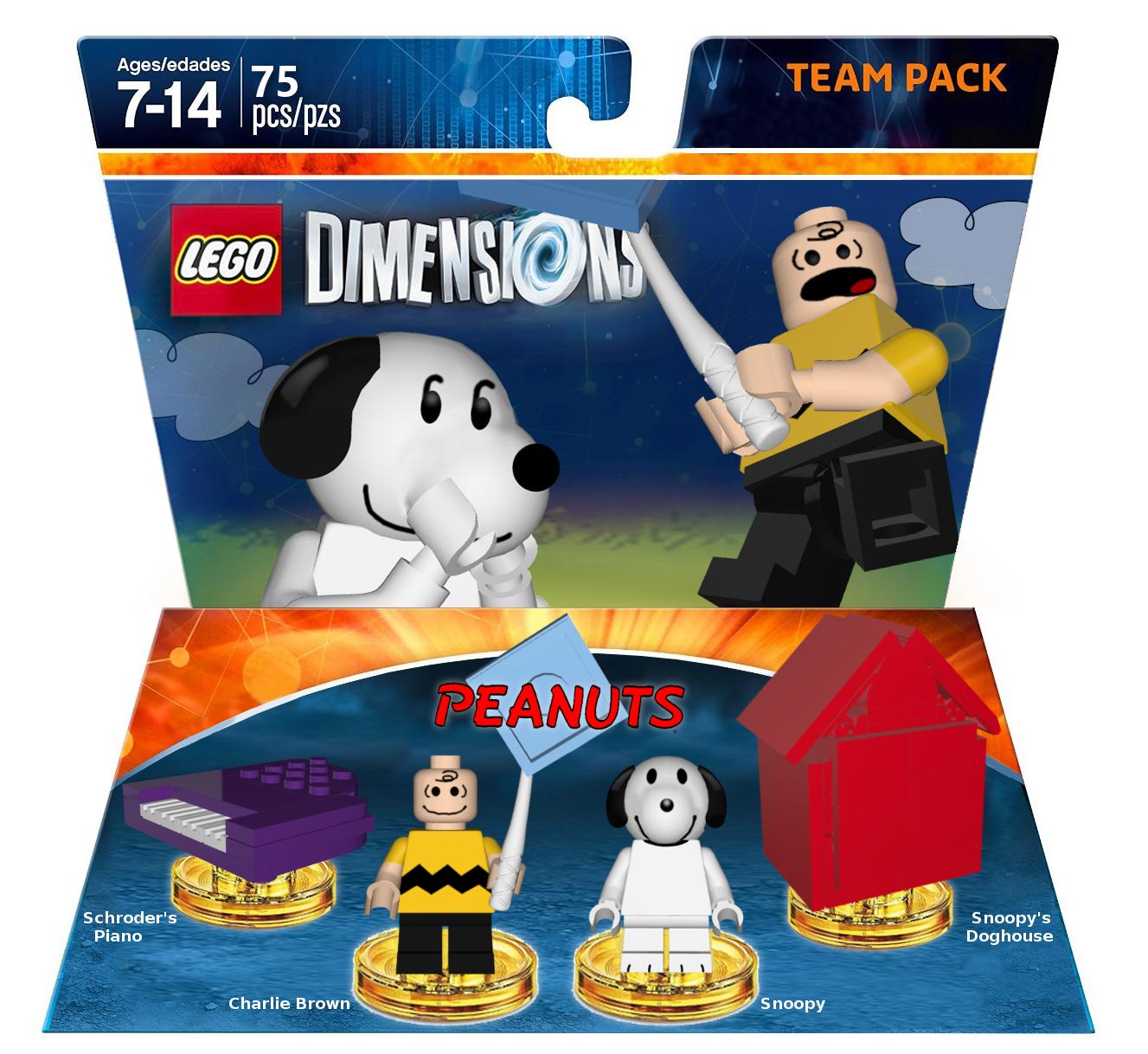 Peanuts Team Pack Npgcole LEGO Dimensions Customs