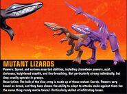 Muntant lizards