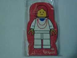 4229627-Memo Pad Minifig - (Q) Necklace Red