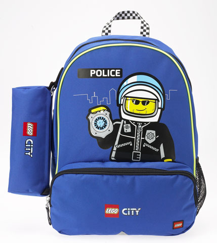 12160 backpack and pencil case set lego city police for Case lego city