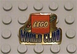 Pin16-Lego Logo World Club