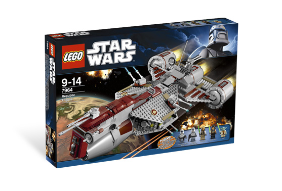 7964 republic frigate brickipedia fandom powered by wikia - Lego star wars vaisseau droide ...
