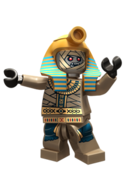 The pharaoh-king of the mummy warriors
