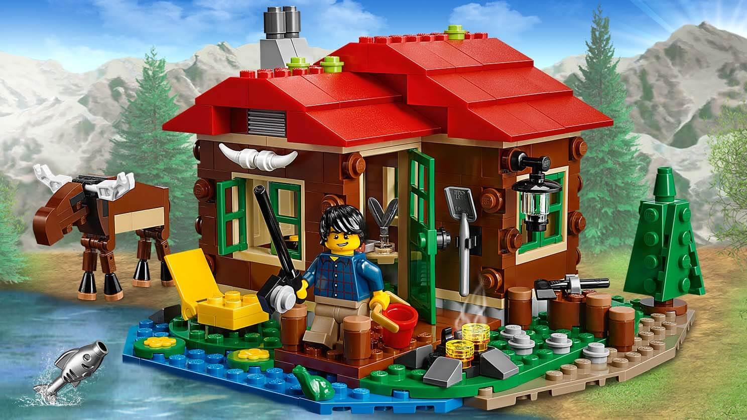 31048 la cabane du bord du lac de lego - La cabane au bord du lac ...