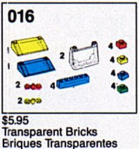 16 Transparent Bricks